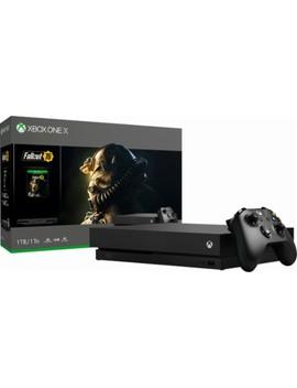 Xbox One X 1 Tb Fallout 76 Bundle With 4 K Ultra Hd Blu Ray   Black by Microsoft