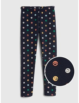 Print Leggings In Fleece by Gap