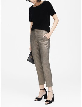 Avery Straight Fit Metallic Ankle Pant by Banana Repbulic