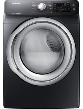 7.5 Cu. Ft. 10 Cycle Electric Dryer With Steam   Fingerprint Resistant Black Stainless Steel by Samsung