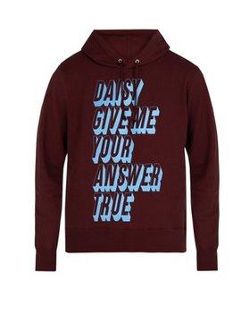 Daisy Daisy Hooded Cotton Sweatshirt by Undercover