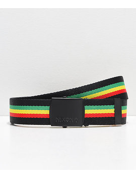 Nixon Basis Rasta Web Belt by Nixon Watches