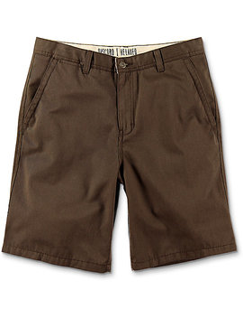 Free World Discord Coffee Bean Chino Shorts by Free World