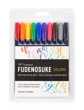 Fudenosuke Color Brush Pen   Set Of 10 by Tombow