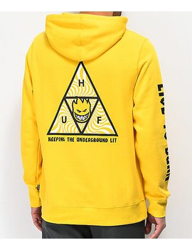 Huf X Spitfire Triangle Yellow Hoodie by Huf