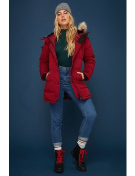 Faux Fur Banff Parka Down & Feather Jacket by Urban Planet