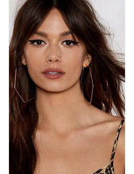 Hexagon With The Wind Hoop Earrings by Nasty Gal