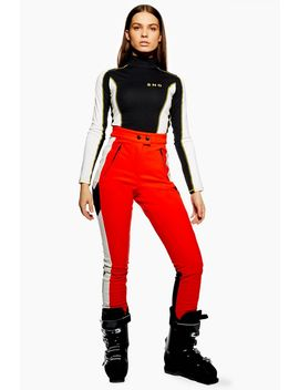 **Red Colour Block Trousers By Topshop Sno by Topshop
