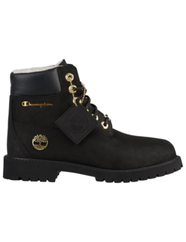 "Timberland X Champion 6"" Shearling Boots by Foot Locker"