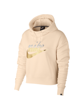 Nike Rally Metallic Clash Crop Hoodie by Foot Locker