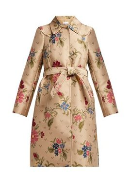 Floral Jacquard Trench Coat by Red Valentino