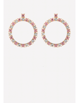Glam Crystal Hoop Earrings by Bebe