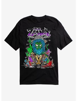 Rob Zombie Cartoon Throne T Shirt by Hot Topic