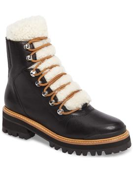 Izzie Genuine Shearling Lace Up Boot by Marc Fisher Ltd