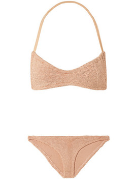 Collette Seersucker Halterneck Bikini by Hunza G