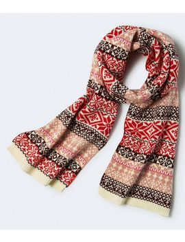 Fairisle Knit Scarf*** by Aeropostale