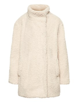 Petite Faux Shearling Cocoon Coat by Banana Repbulic
