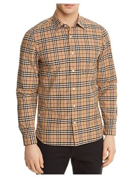 Alexander Plaid Button Down Shirt by Burberry