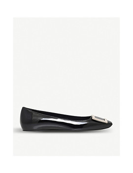 Trompette Patent Leather Ballet Flats by Roger Vivier