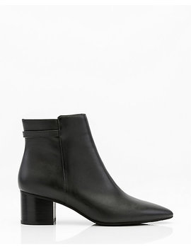 Leather Pointy Toe Ankle Boot by Le Chateau