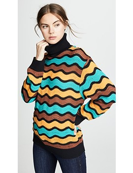 Striped Turtleneck Pullover by M Missoni