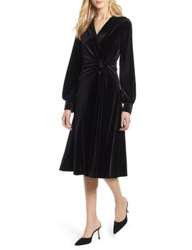 Velvet Faux Wrap Dress by Halogen®