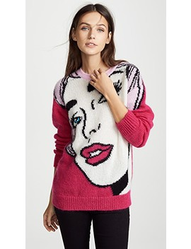 Cartoon Face Sweater by Moschino