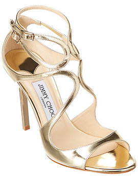 Jimmy Choo Lang 100 Liquid Mirror Leather Sandal by Jimmy Choo