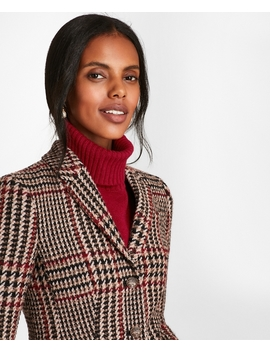 Petite Plaid Wool Alpaca Blend Jacket by Brooks Brothers