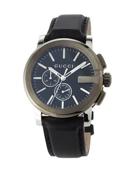 44mm Men's G Chrono Leather Watch by Gucci