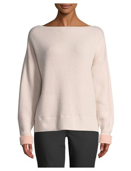 Donah Boat Neck Cashmere Pullover Sweater by Club Monaco