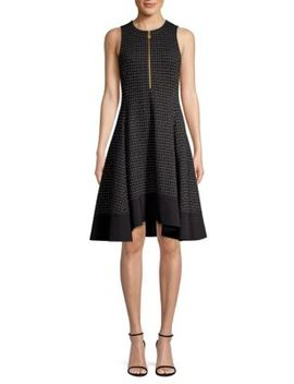 Check Fit & Flare Dress by Donna Karan New York