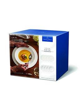 Villeroy & Boch For Me Dinner Set Für 4 Personen, 8 Teilig, Premium Porzellan, Weiß by Amazon