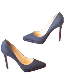Grey Pigalle Plato Flannel Pumps by Christian Louboutin