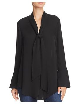 Nadal Tie Neck Blouse by Joie