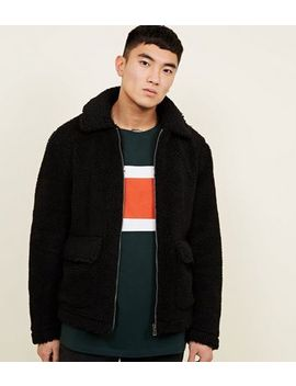 Black Borg Zip Up Jacket by New Look