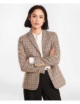 Checked Wool Twill Jacket by Brooks Brothers