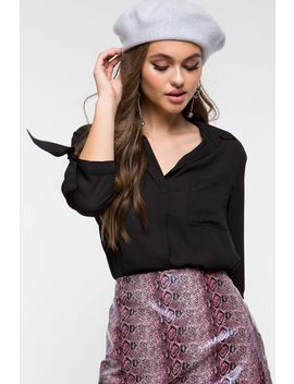 Michelle Pocket Collared Shirt by A'gaci