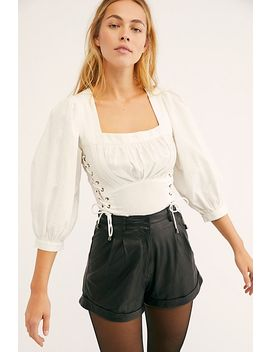 Sophie Leather Shorts by Free People