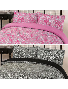 Dreamscene Jengo Leopard Animal Print Pink Double King Duvet Cover Bedding Set by Ebay Seller