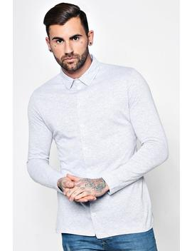Long Sleeve Jersey Shirt by Boohoo
