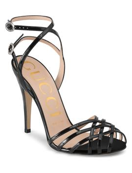 Draconia Ankle Strap Sandal by Gucci