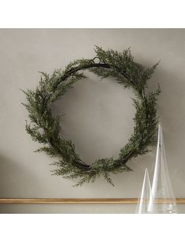 "Cedar Wreath 18"" by Crate&Barrel"
