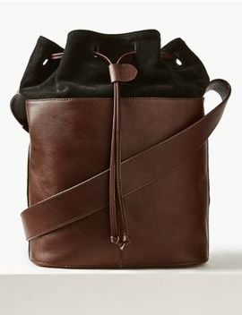 Leather Duffle Bag by Marks & Spencer