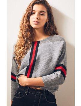 La Hearts Dolman Ribbed Pullover Sweater by Pacsun