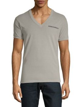 Logo V Neck Cotton Tee by Dsquared2