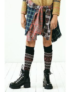 Flurries Fairisle Over The Knee Socks by Free People