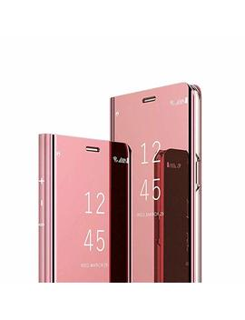 Cotdinfor Mirror Makeup Case For Huawei Honor 9 Lite Luxury Slim View Standing Cover Bright Crystal Clear Flip Folding Kickstand Protective Bumper Case For Huawei Honor 9 Lite Mirror Pu Rose Gold Mx. by Cotdinfor