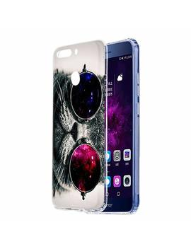 Honor 9 Lite Case, Eouine Honor 9 Lite Clear Phone Case With Pattern [Ultra Slim] Shockproof Soft Tpu Silicone Gel Back Cover Bumper Skin For Huawei Honor 9 Lite Smartphone (Colorful Flowers) by Eouine