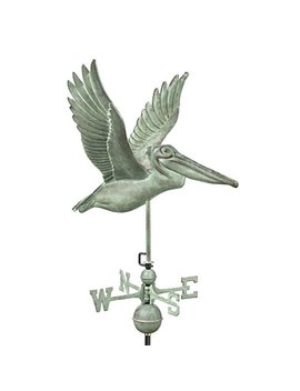 Good Directions Pelican Weathervane, Blue Verde Copper by Good Directions